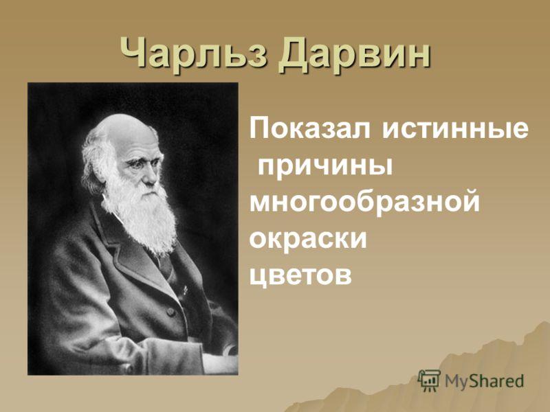 Чарльз Дарвин Показал истинные причины многообразной окраски цветов