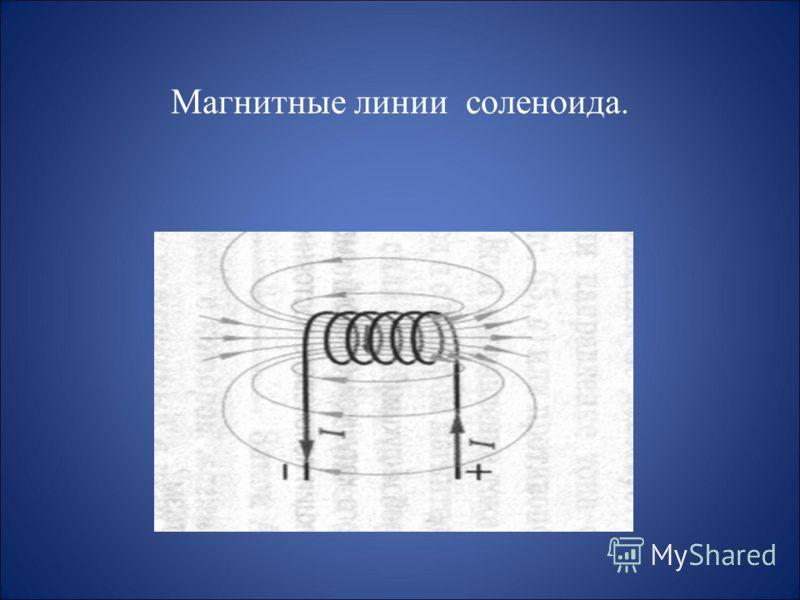Магнитные линии прямолинейного проводника с током.