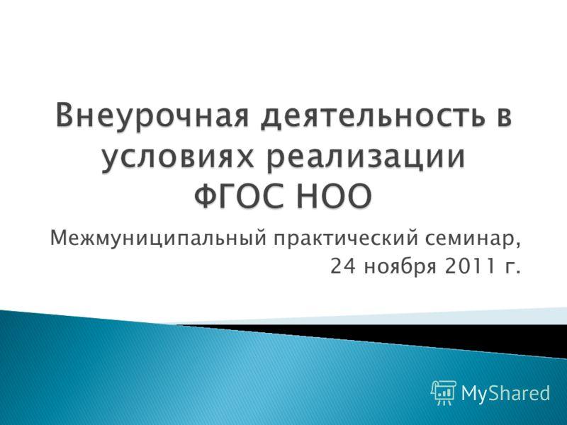 Межмуниципальный практический семинар, 24 ноября 2011 г.