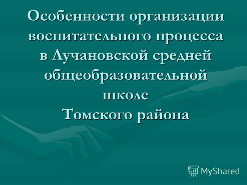 Особенности организации воспитательного процесса в Лучановской средней общеобразовательной школе Томского района