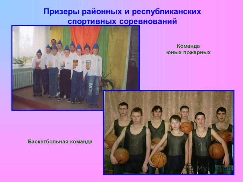 Призеры районных и республиканских спортивных соревнований Команда юных пожарных Баскетбольная команда