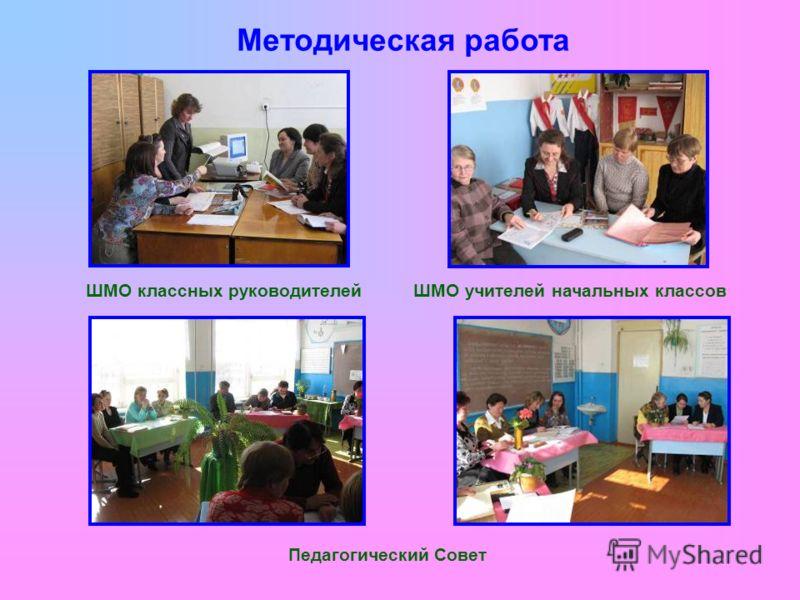 Методическая работа ШМО классных руководителейШМО учителей начальных классов Педагогический Совет