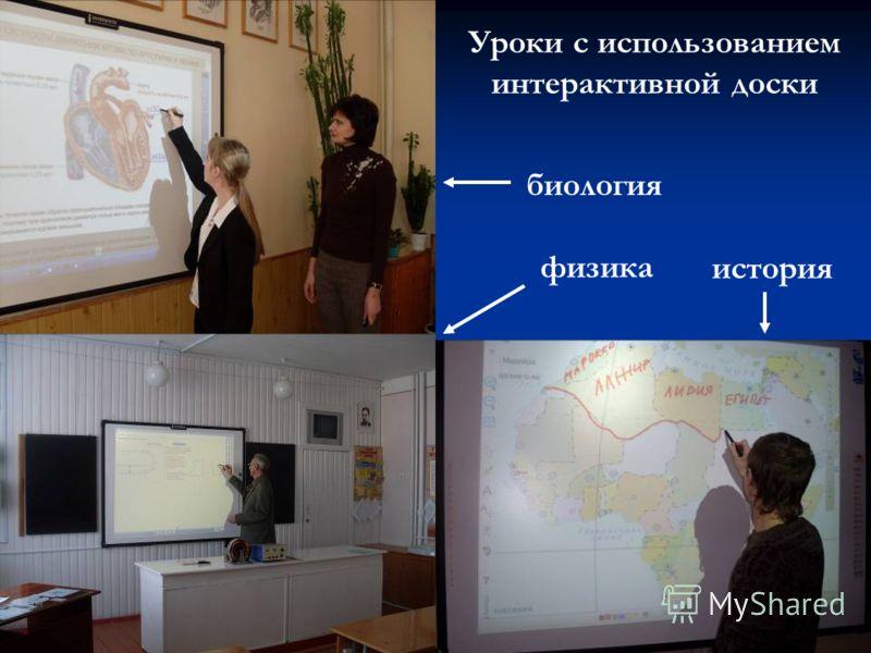 Уроки с использованием интерактивной доски биология физика история