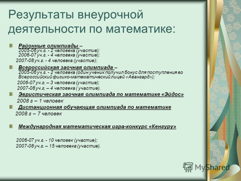 Динамика учебных достижений:
