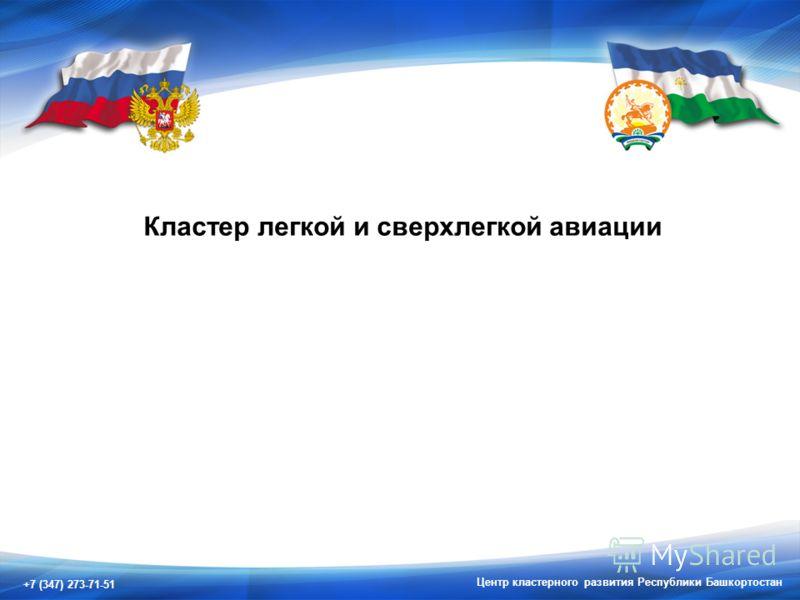 +7 (347) 273-71-51 Центр кластерного развития Республики Башкортостан Кластер легкой и сверхлегкой авиации