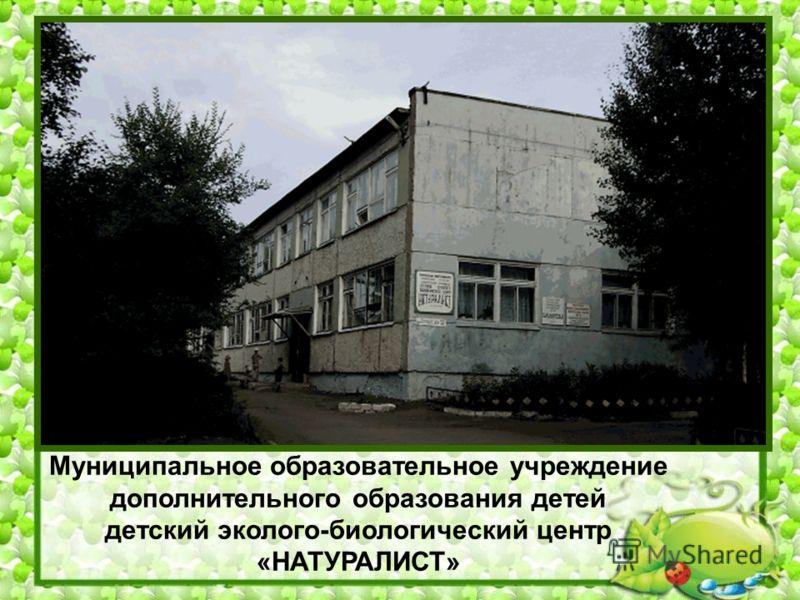 Муниципальное образовательное учреждение дополнительного образования детей детский эколого-биологический центр «НАТУРАЛИСТ»