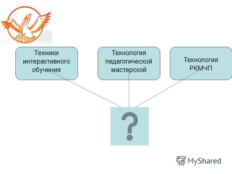 Техники интерактивного обучения Технология педагогической мастерской Технология РКМЧП
