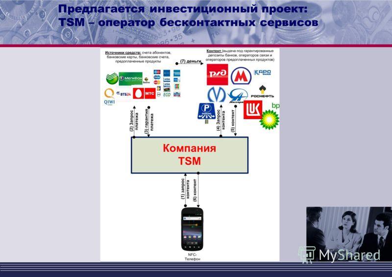 Предлагается инвестиционный проект: TSM – оператор бесконтактных сервисов