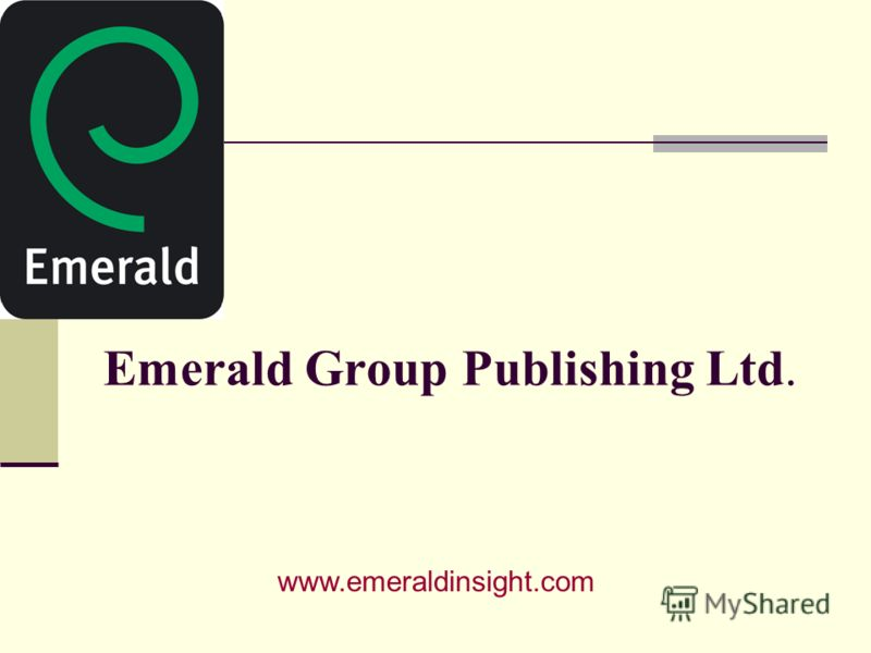 Emerald Group Publishing Ltd. www.emeraldinsight.com