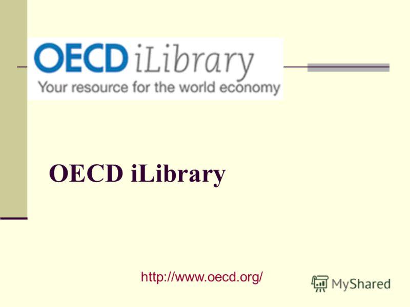 OECD iLibrary http://www.oecd.org/