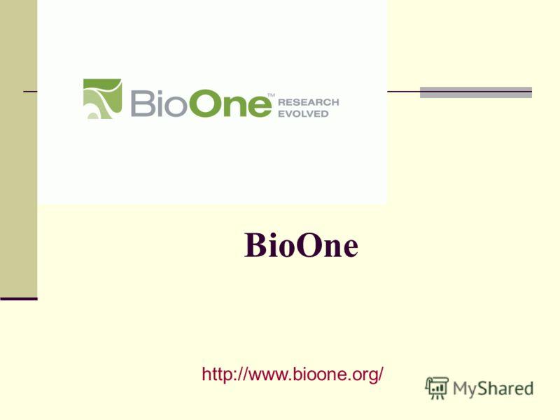 BioOne http://www.bioone.org/