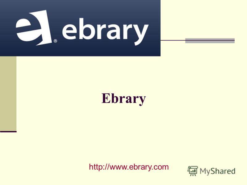 Ebrary http://www.ebrary.com