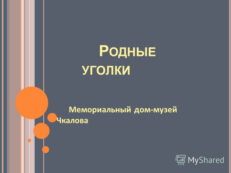 Р ОДНЫЕ УГОЛКИ Мемориальный дом - музей Чкалова