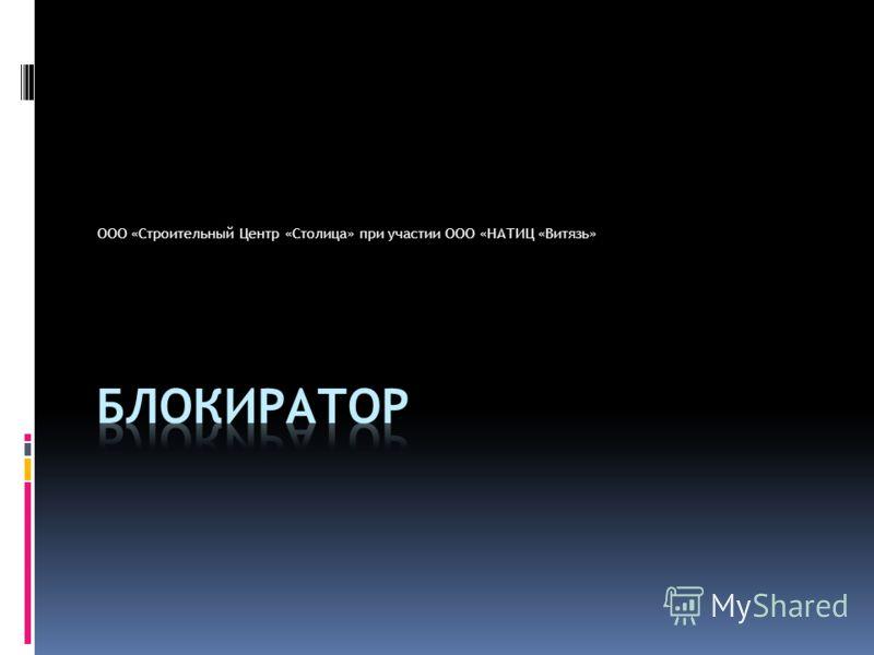 ООО «Строительный Центр «Столица» при участии ООО «НАТИЦ «Витязь»