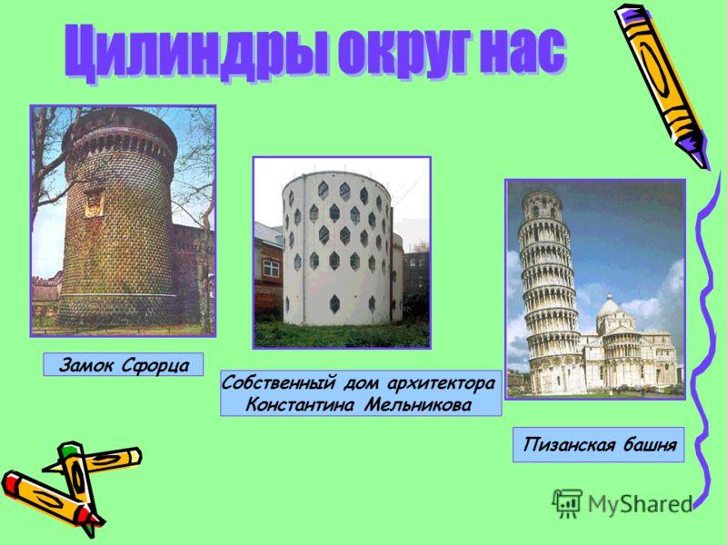 Замок Сфорца Собственный дом архитектора Константина Мельникова Пизанская башня