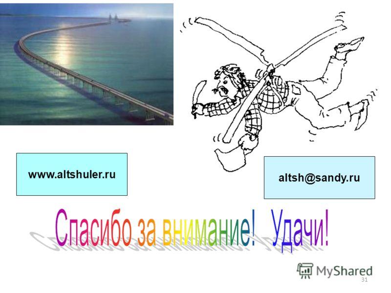31 www.altshuler.ru altsh@sandy.ru