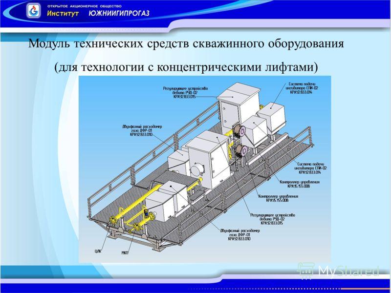 Модуль технических средств скважинного оборудования (для технологии с концентрическими лифтами)