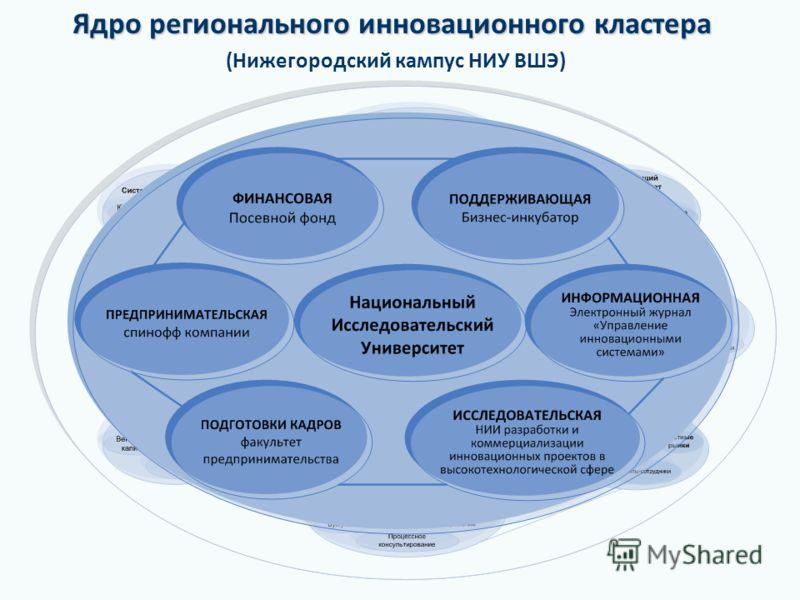 Ядро регионального инновационного кластера Ядро регионального инновационного кластера (Нижегородский кампус НИУ ВШЭ)