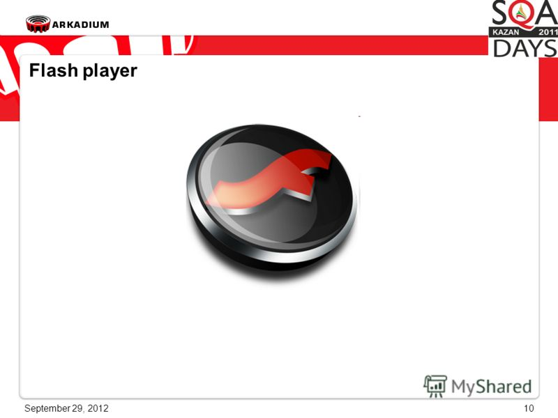 June 28, 201210 Flash player