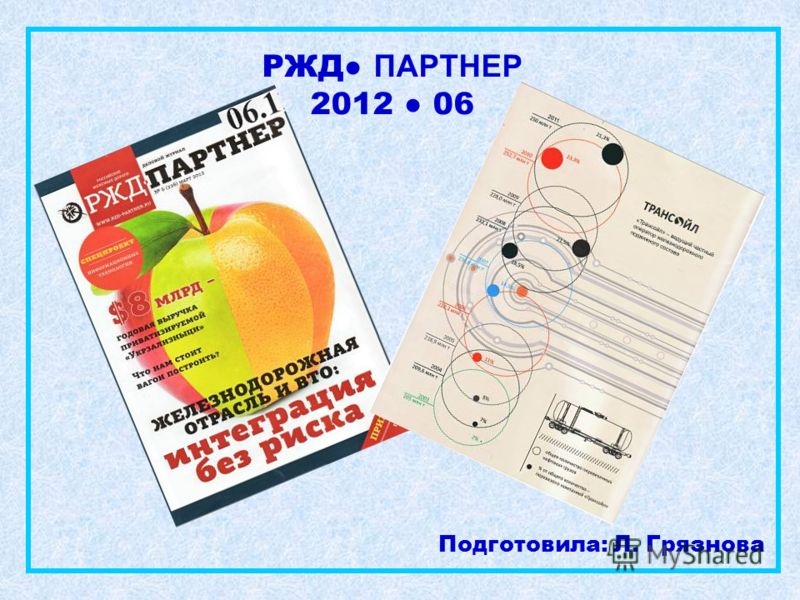 РЖД ПАРТНЕР 2012 06 Подготовила: Л. Грязнова