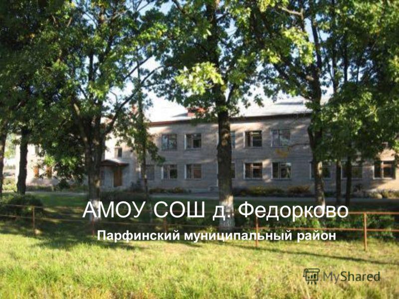 АМОУ СОШ д. Федорково Парфинский муниципальный район