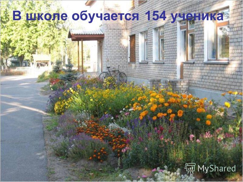 В школе обучается 154 ученика