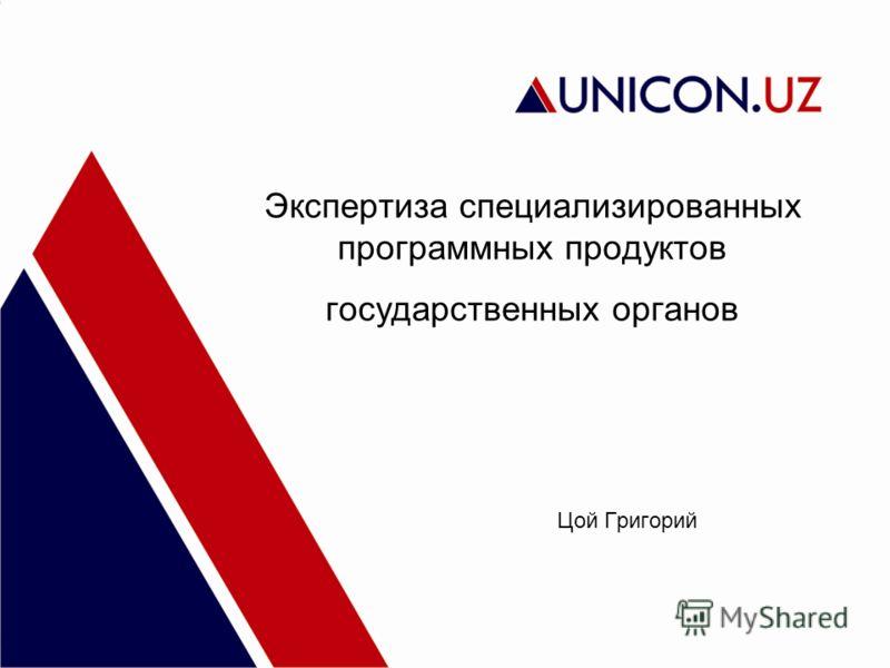 Экспертиза специализированных программных продуктов государственных органов Цой Григорий