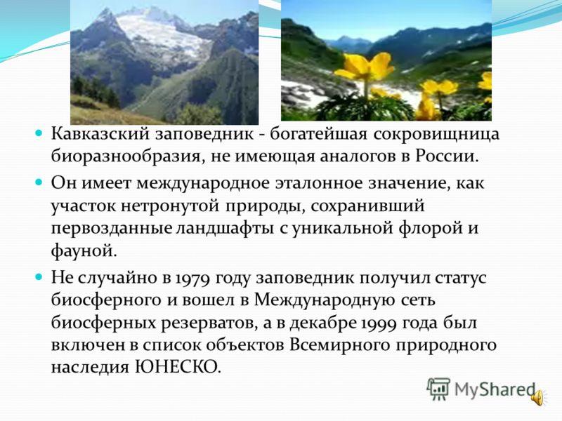 Являясь крупнейшей охраняемой территорией Кавказского перешейка и вторым по величине в Европе, заповедник занимает земли Краснодарского края, Республики Адыгея и Карачаево-Черкесской Республики. Общая площадь заповедника - более 280 тыс. га. Управлен