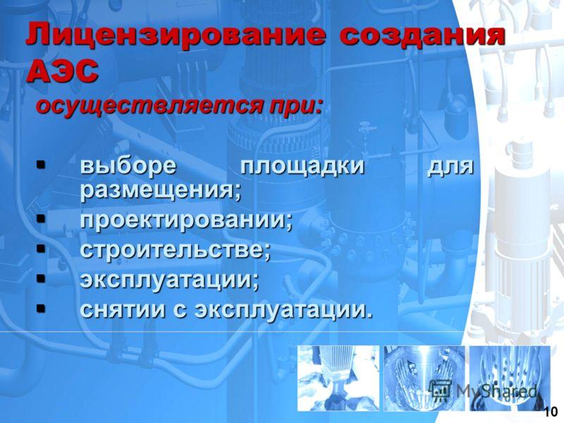 13 Лицензирование создания АЭС осуществляется при: выборе площадки для размещения; выборе площадки для размещения; проектировании; проектировании; строительстве; строительстве; эксплуатации; эксплуатации; снятии с эксплуатации. снятии с эксплуатации.