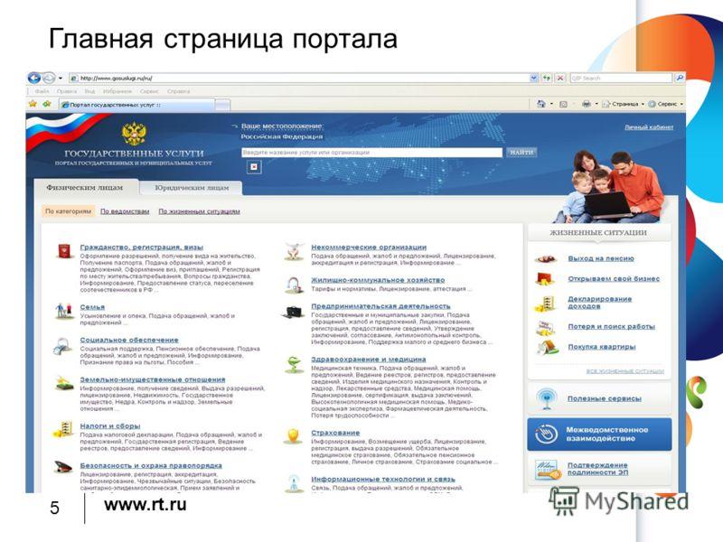 www.rt.ru Главная страница портала 5