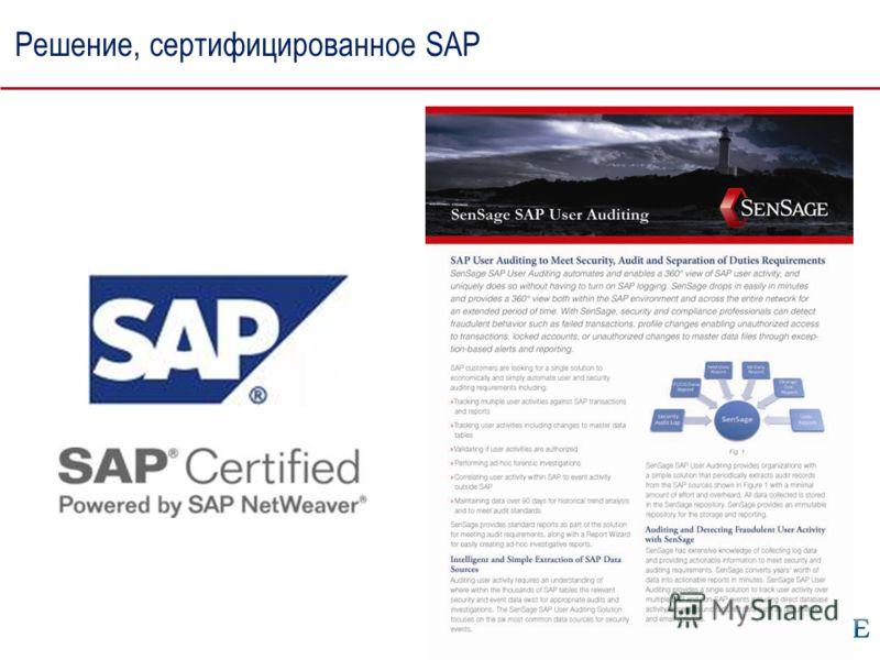 Решение, сертифицированное SAP
