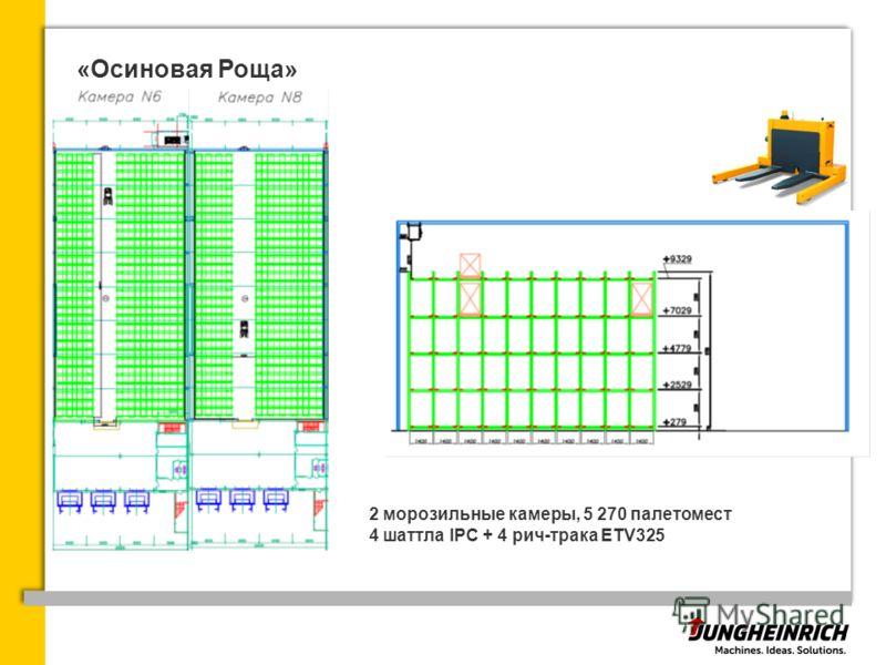 «Осиновая Роща» 2 морозильные камеры, 5 270 палетомест 4 шаттла IPC + 4 рич-трака ETV325