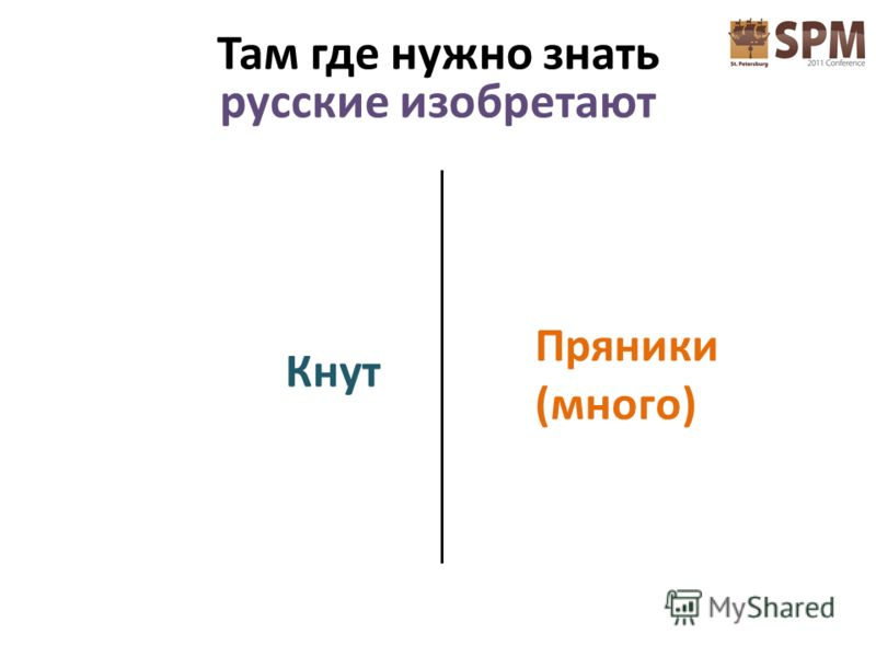 Кнут Пряники (много) Там где нужно знать русские изобретают