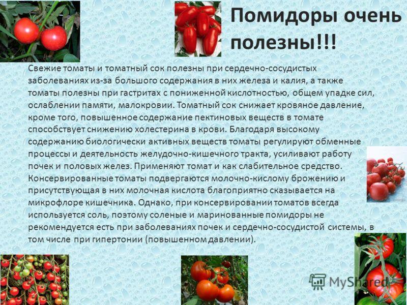 помидоры при повышенном холестерине в крови