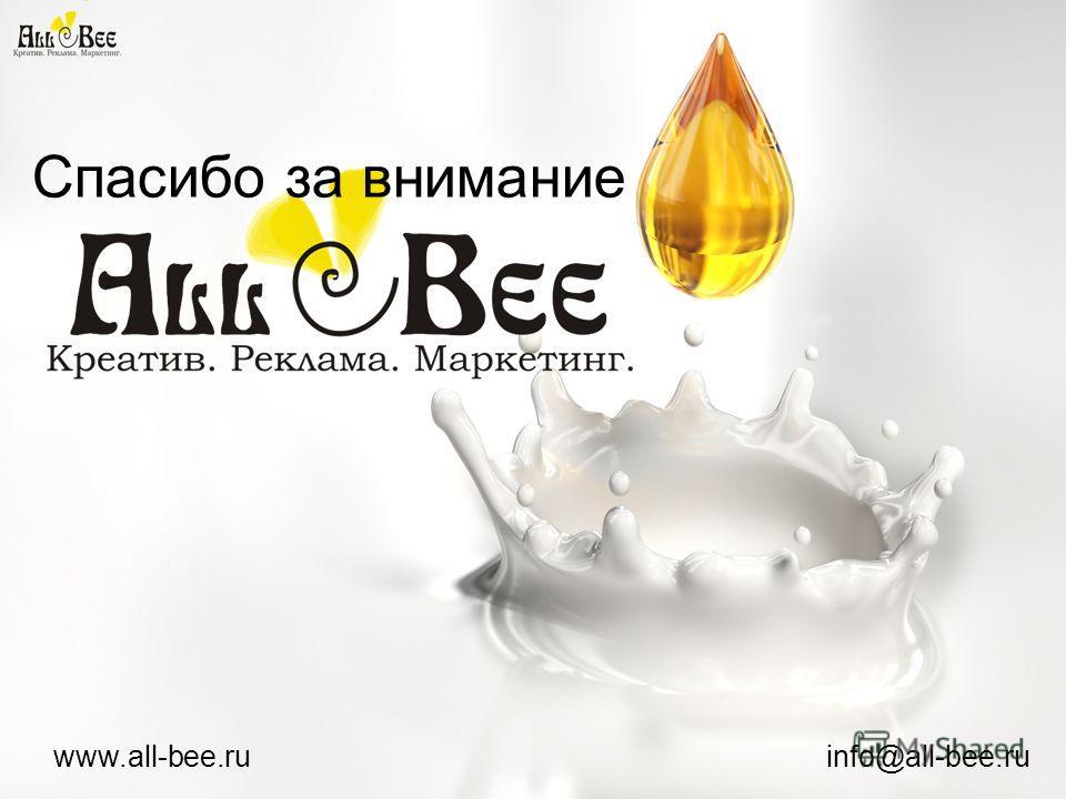 www.all-bee.ru info@all-bee.ru Спасибо за внимание