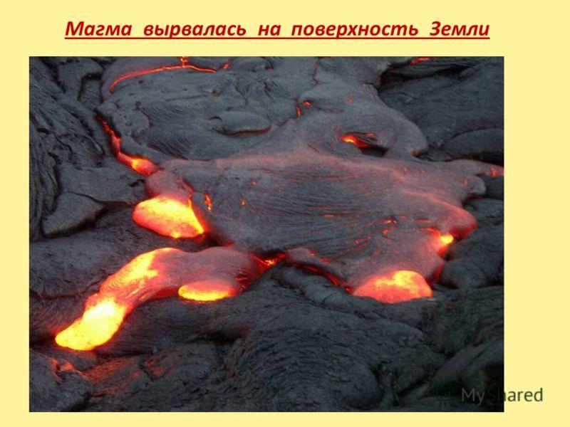 Магма вырвалась на поверхность Земли
