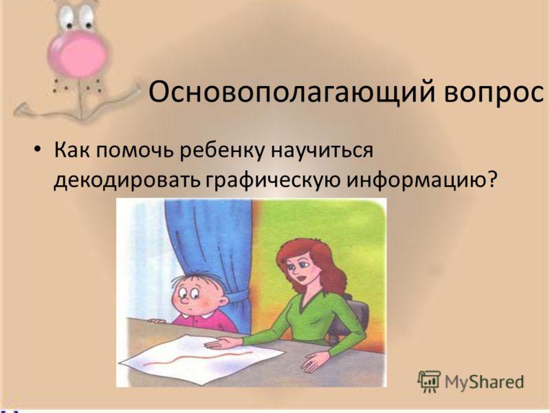Основополагающий вопрос Как помочь ребенку научиться декодировать графическую информацию?