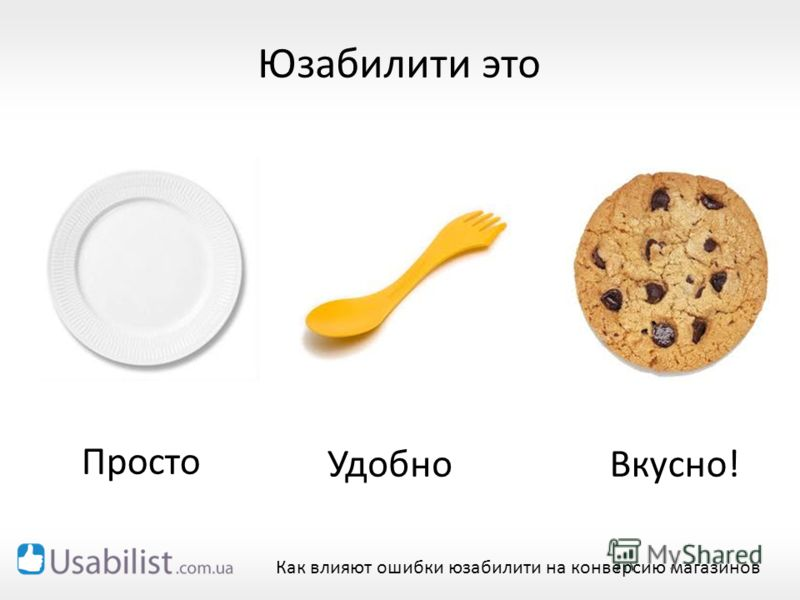 Юзабилити это Как влияют ошибки юзабилити на конверсию магазинов Удобно Просто Вкусно!