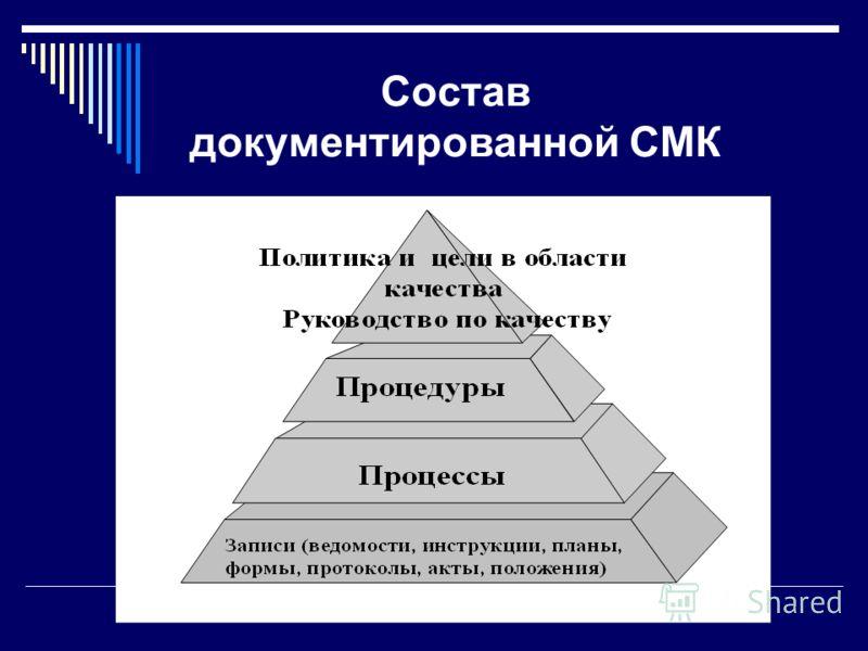 Состав документированной СМК