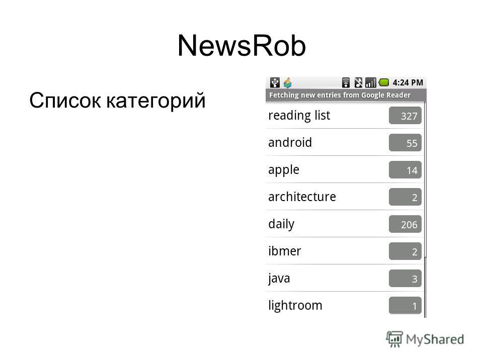 NewsRob Список категорий