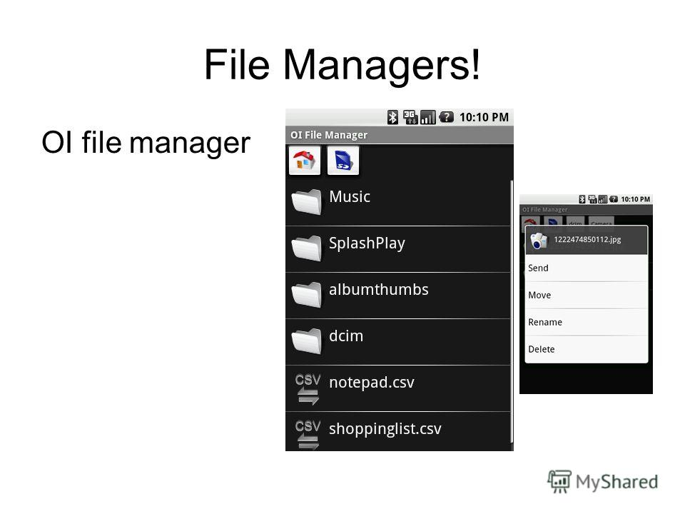 File Managers! OI file manager
