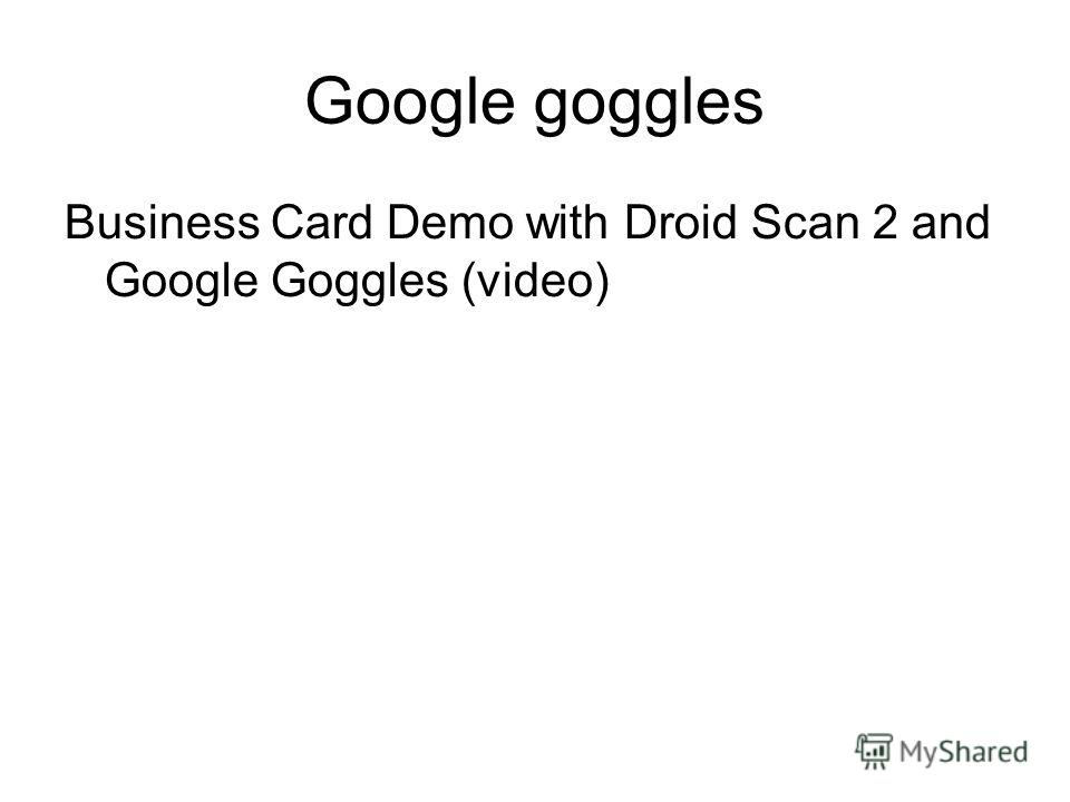 Luxury Google Goggles Business Card Pattern - Business Card Ideas ...