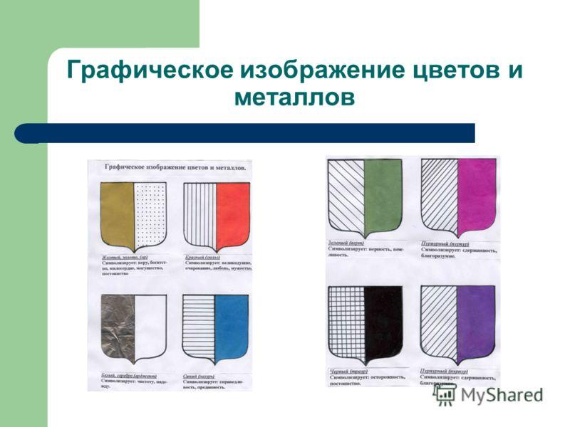 Графическое изображение цветов и металлов