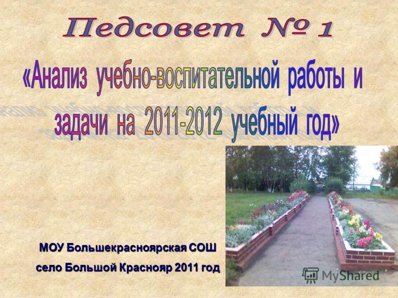 МОУ Большекрасноярская СОШ село Большой Краснояр 2011 год