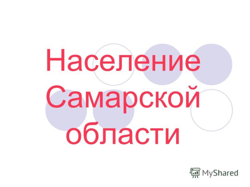 Население Самарской области