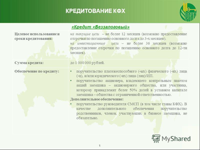 Кредитные продукты для крестьянских (фермерских) хозяйств (КФХ) Кредитные продукты для крестьянских (фермерских) хозяйств (КФХ)