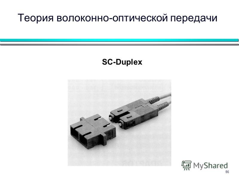 86 SC-Duplex Теория волоконно-оптической передачи