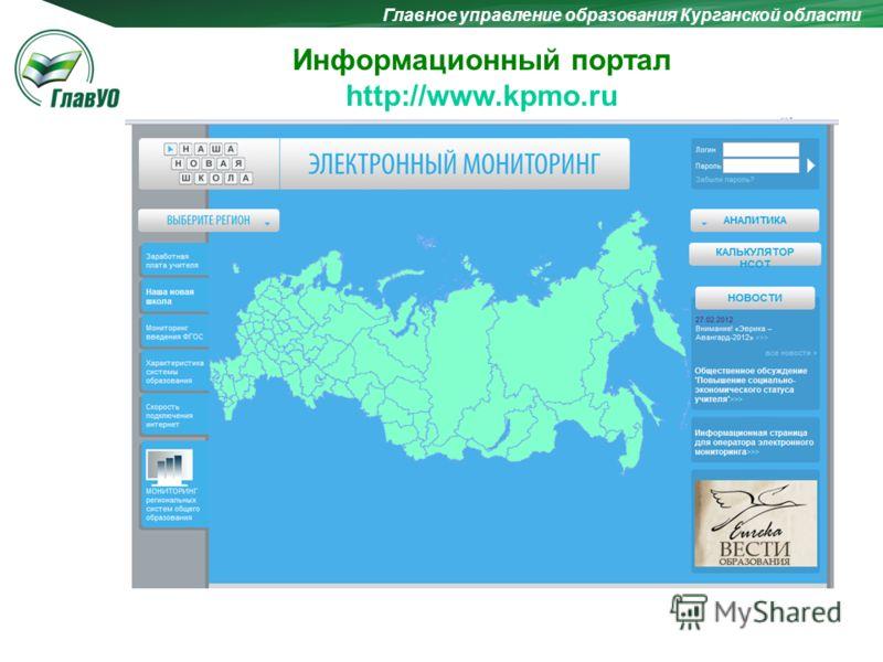 Главное управление образования Курганской области Информационный портал http://www.kpmo.ru