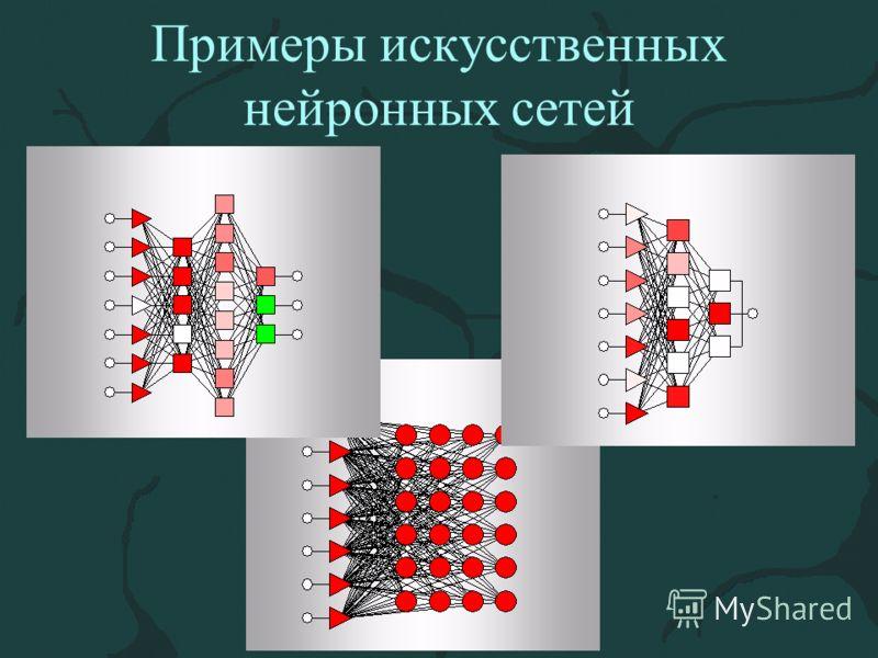 Примеры искусственных нейронных сетей