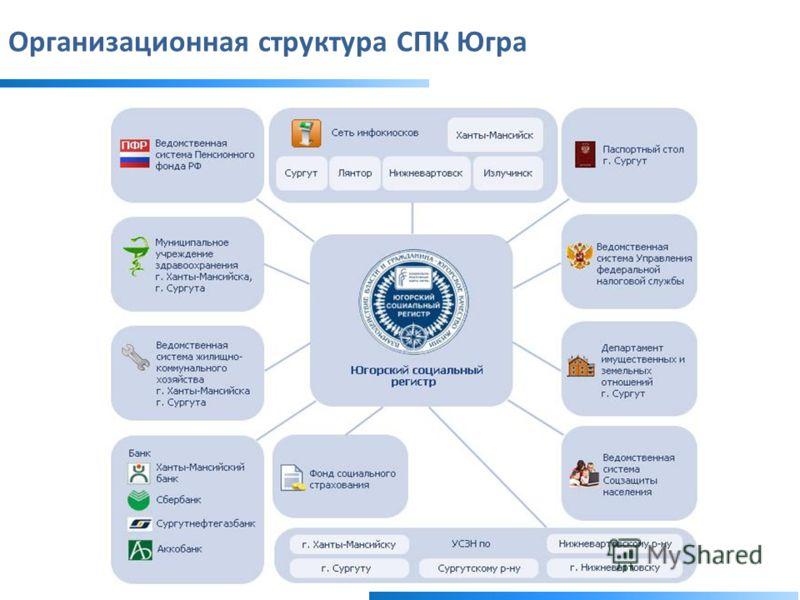 Организационная структура СПК Югра